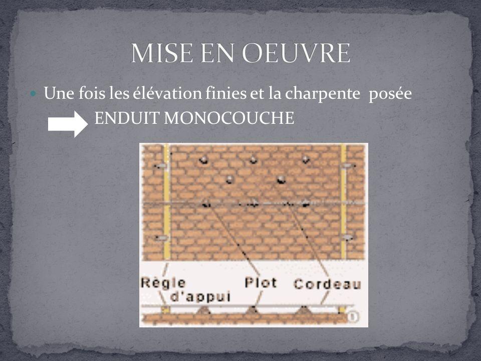 ENDUIT MONOCOUCHE