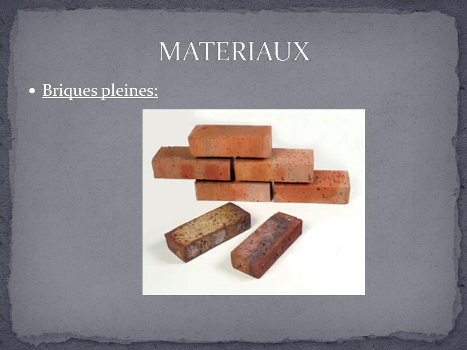 Briques creuses: