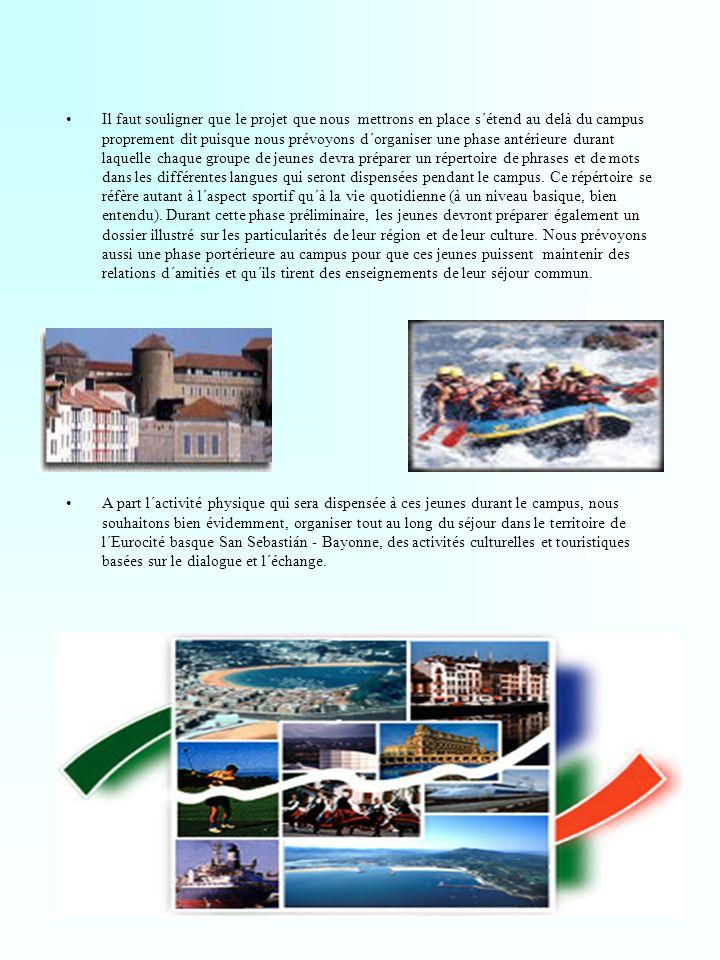 Résumé des activités et objectifs généraux Ainsi, les deux clubs souhaitent participer activement à la construction de l´Eurocité basque, entité économique, sociale, culturelle et sportive inéluctable de l´avenir de notre région.