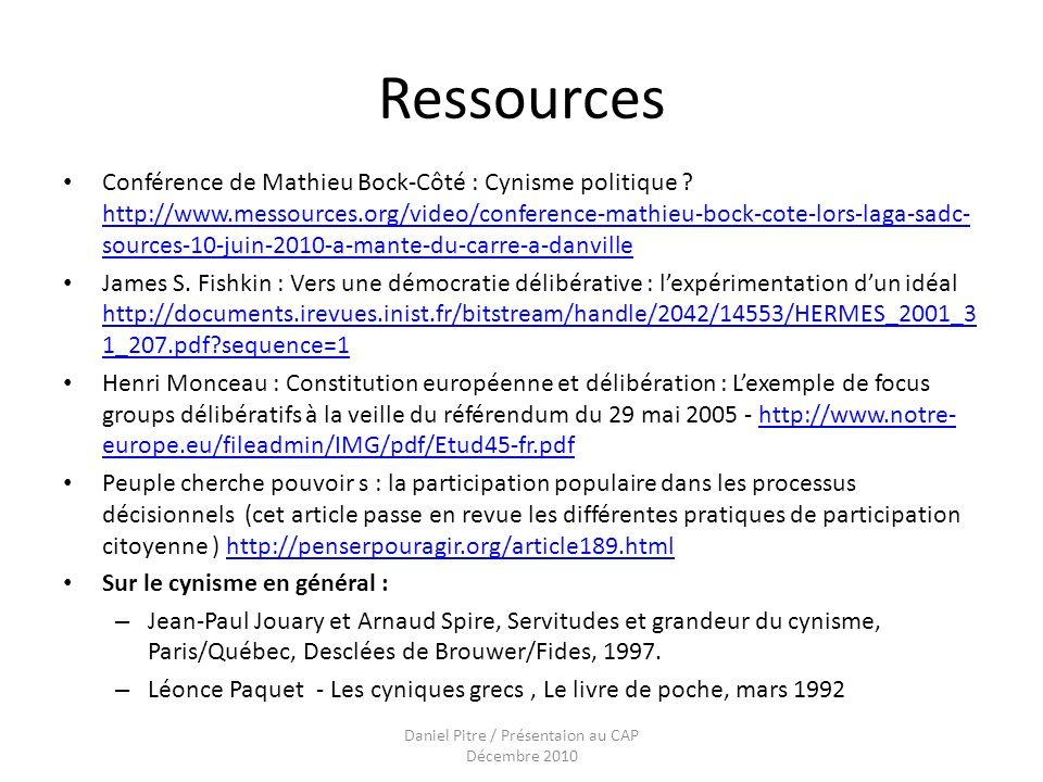 Ressources Conférence de Mathieu Bock-Côté : Cynisme politique .