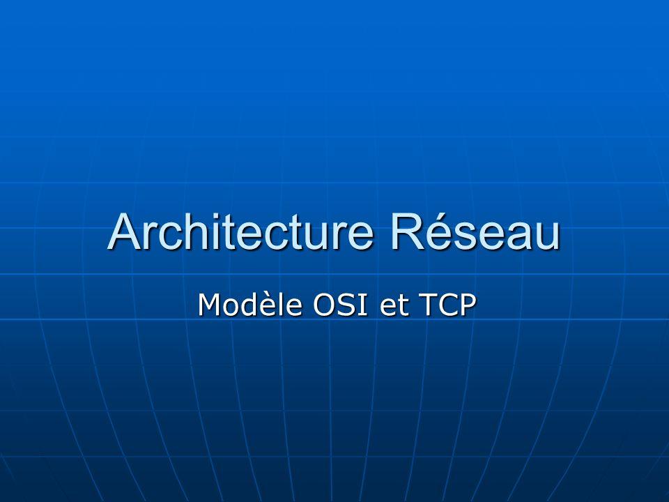 Utilisation des couches : Les modèles OSI et TCP/IP comportent des couches qui spécifient comment les données doivent être communiquées dun ordinateur à lautre.