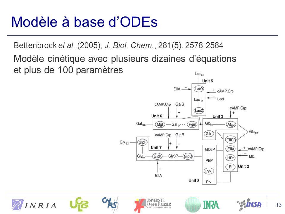 13 Modèle à base dODEs Bettenbrock et al.(2005), J.