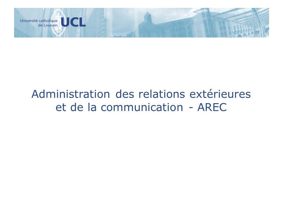 Administration des relations extérieures et de la communication - AREC