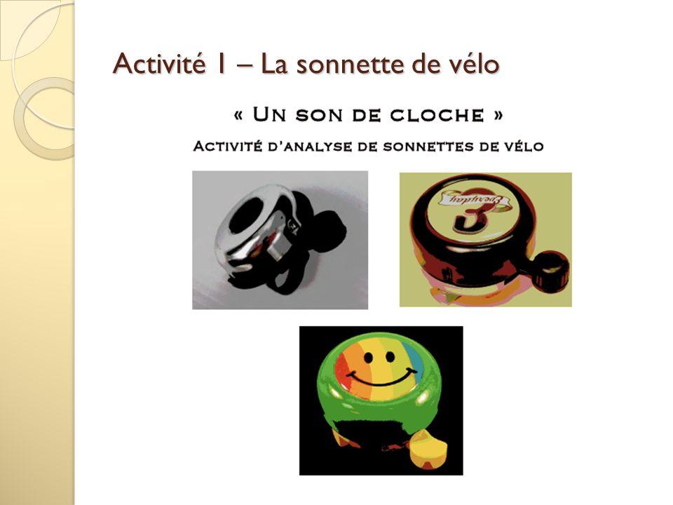Activité 1 – La sonnette de vélo