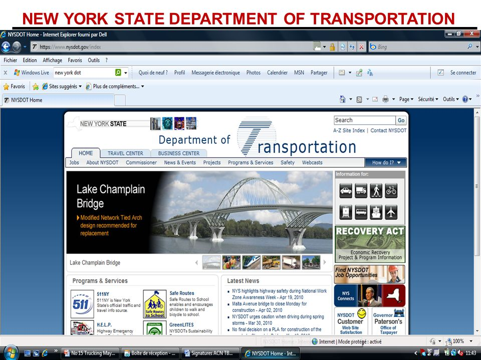 NEW YORK STATE DEPARTMENT OF TRANSPORTATION 14