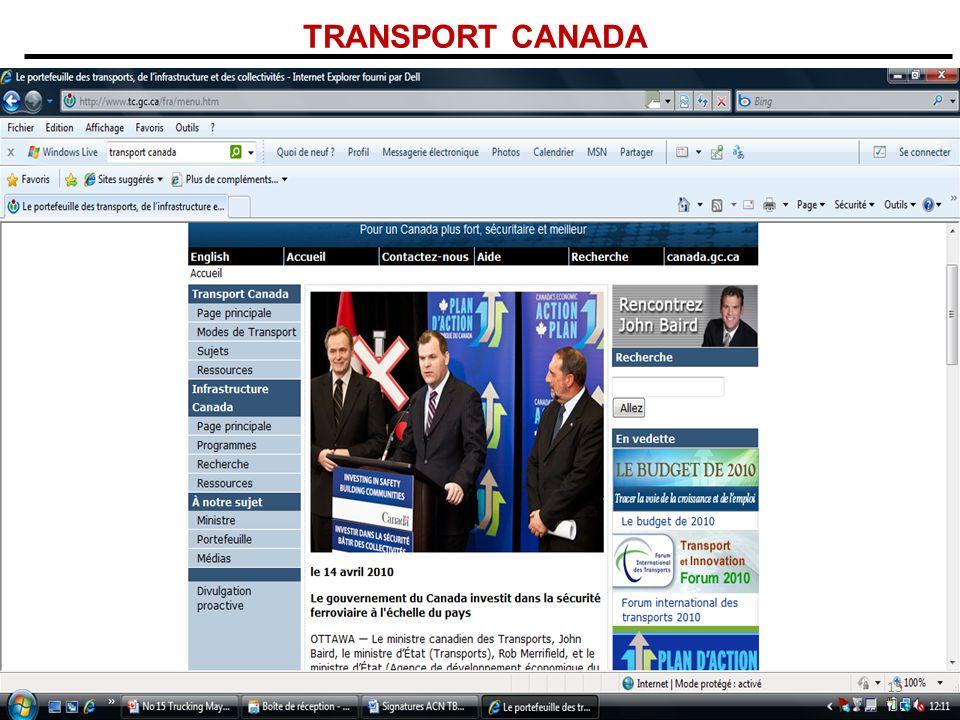 TRANSPORT CANADA 15