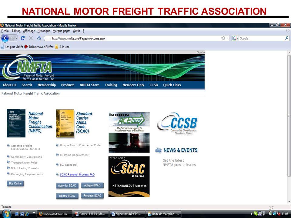 NATIONAL MOTOR FREIGHT TRAFFIC ASSOCIATION 27
