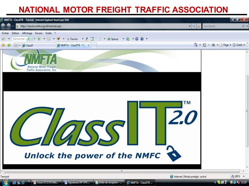 NATIONAL MOTOR FREIGHT TRAFFIC ASSOCIATION 30