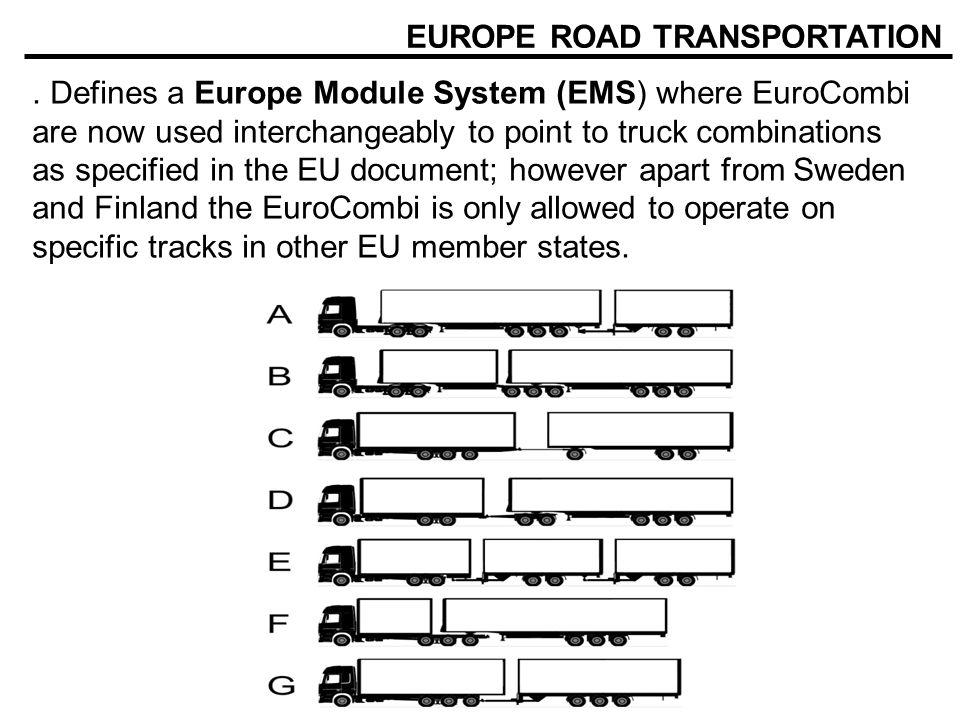 EUROPE ROAD TRANSPORTATION.