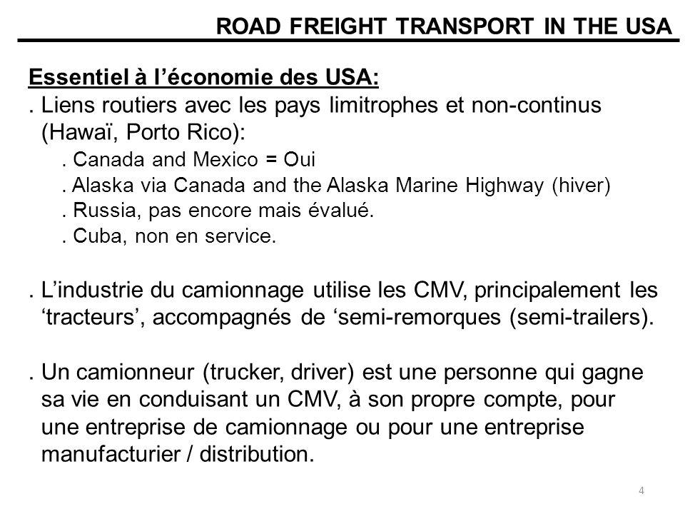MINISTERE DES TRANSPORTS DU QUEBEC (MTQ) Poids maximal camion 2 essieux: Avant: 7250kg Arrière: 10000kg / 8000kg Total: 17250kg / 15250kg *** Load Limits 25 Poids maximum semi-remorque 5 essieux5 axels semi-trailer truck maximum load: Avant: 5500kg Essieux tandem: 18000kg / 15500kg Essieux semi-remorque:: 18000kg / 15500kg Total: 41500kg / 36500kg