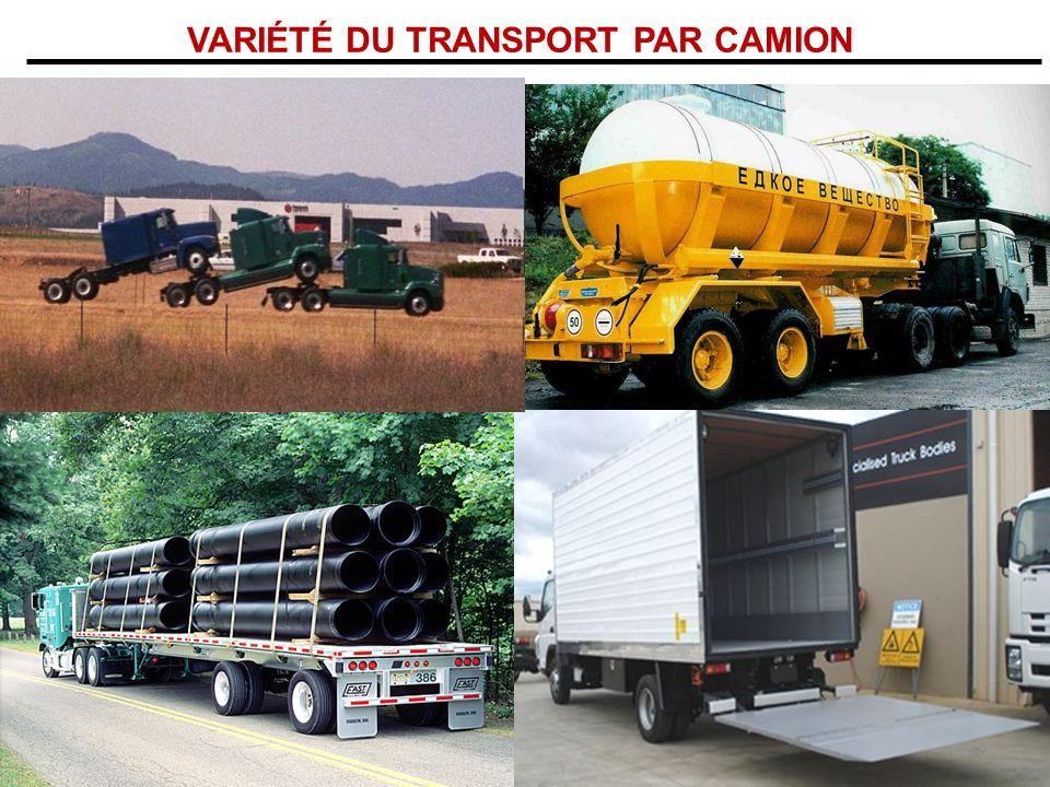 VARIÉTÉ DU TRANSPORT PAR CAMION 42