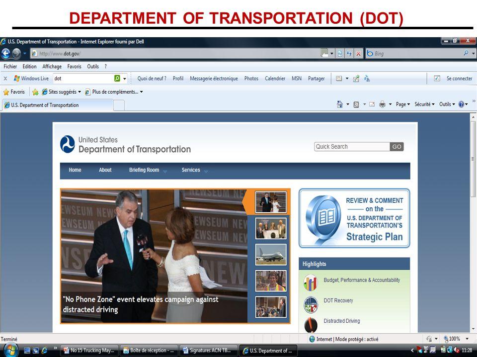 DEPARTMENT OF TRANSPORTATION (DOT) 8