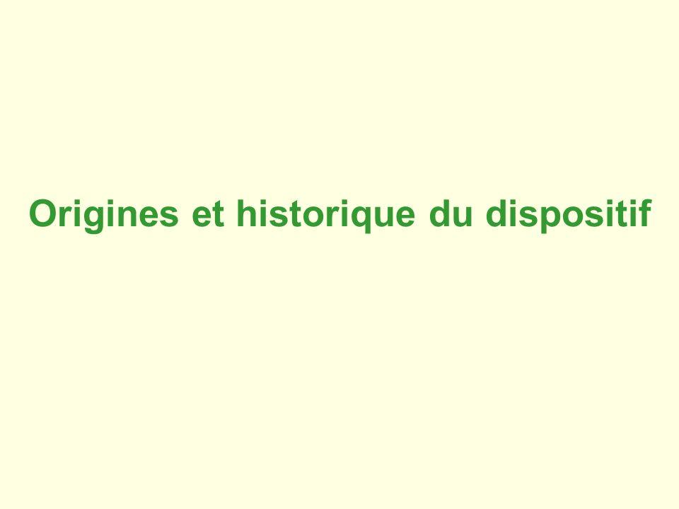 Origines et historique du dispositif