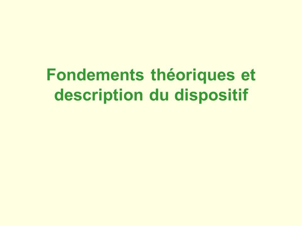 Fondements théoriques et description du dispositif