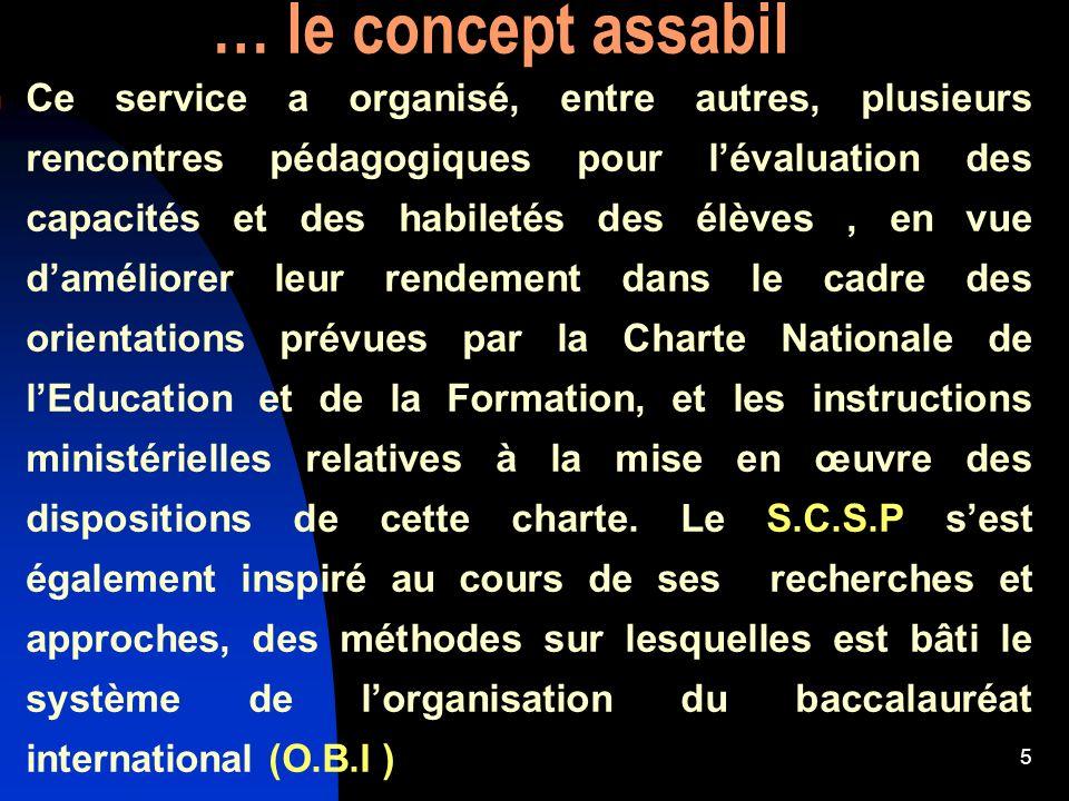6 le concept Assabil évolue Innovation du rôle des comités de coordination de Matière et de Niveau.