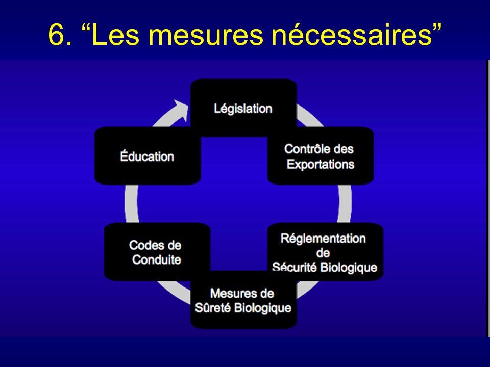 6. Les mesures nécessaires