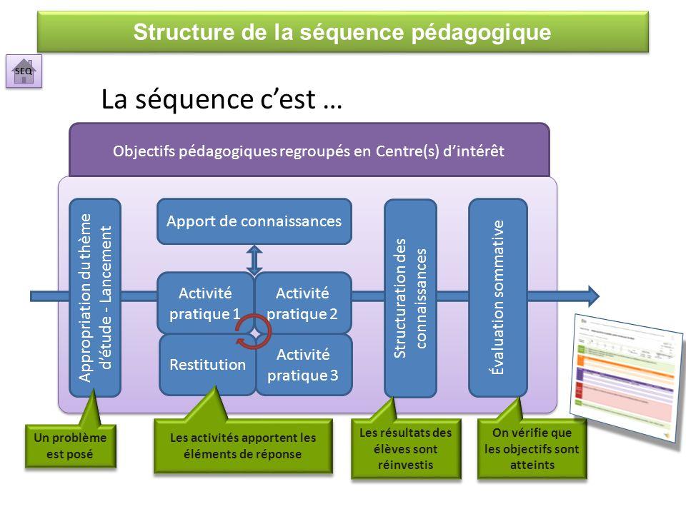 Apport de connaissances Activité pratique 3 Appropriation du thème détude - Lancement Activité pratique 1 Structuration des connaissances Évaluation s