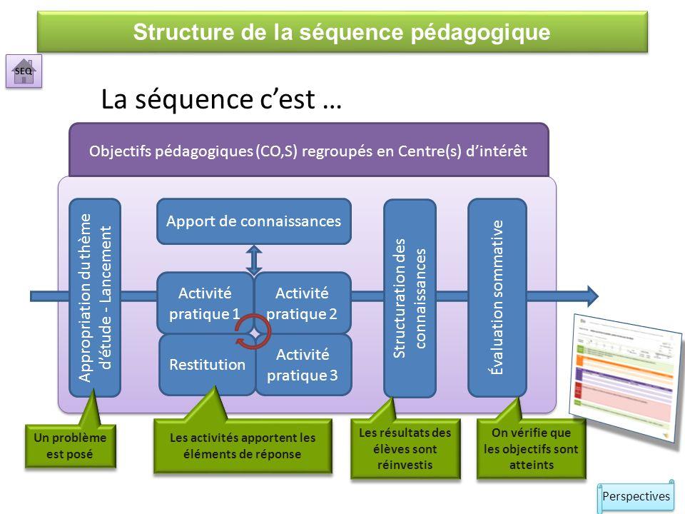 Structuration des connaissances La phase de structuration des savoirs sera réalisée en réinvestissant les résultats collectés lors des synthèses.