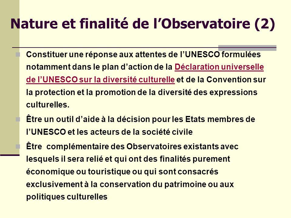 OBJECTIFS GÉNÉRAUX (1) Mieux comprendre la nature des liens entre le tourisme, la culture et le développement durable des territoires tout en promouvant une vision responsable et éthique du tourisme culturel.