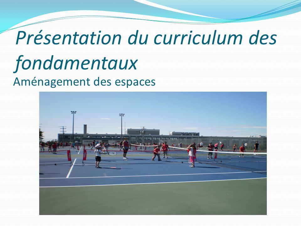 Présentation du curriculum des fondamentaux Aménagement des espaces