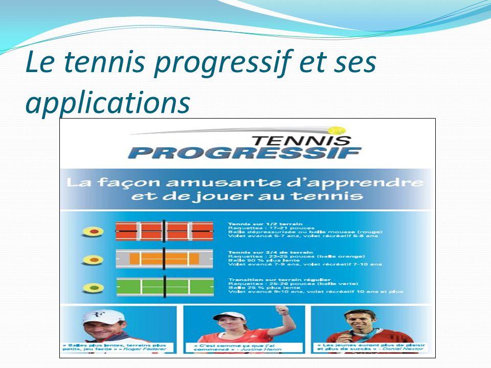 Le tennis progressif et ses applications