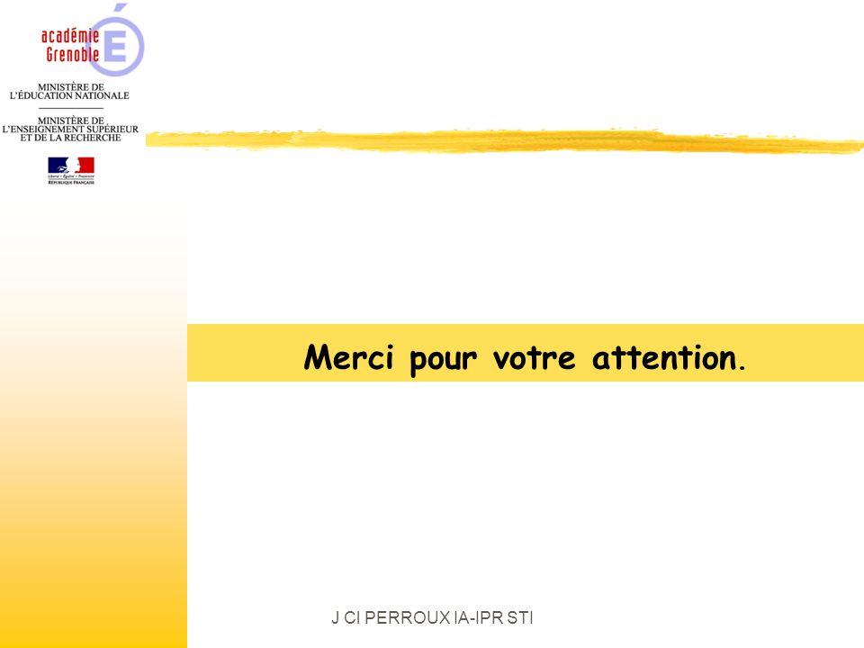 J Cl PERROUX IA-IPR STI Merci pour votre attention.
