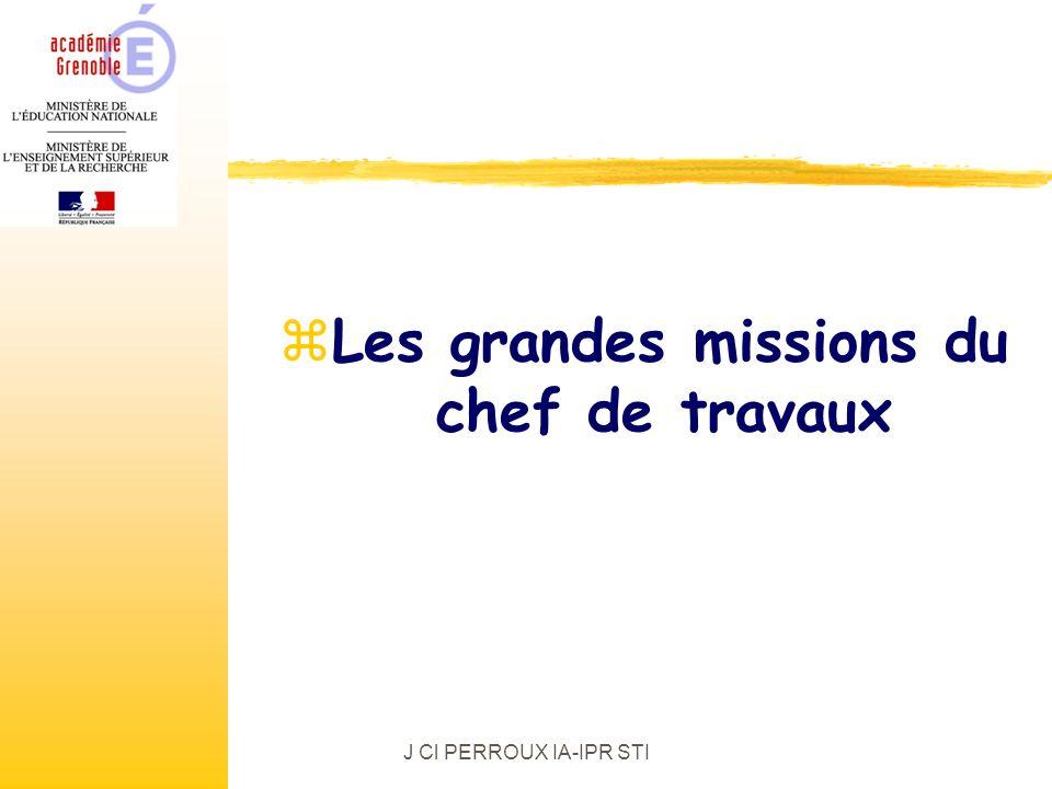 J Cl PERROUX IA-IPR STI zLes grandes missions du chef de travaux