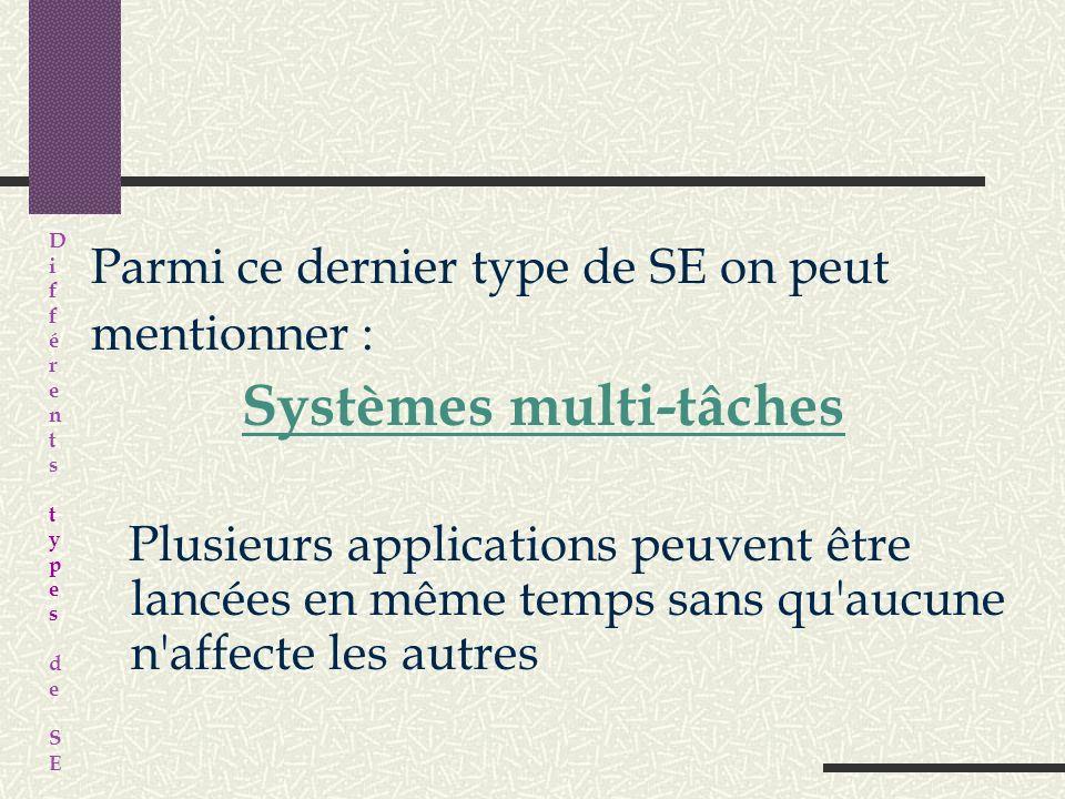 3. Systèmes temps partagé : développement dapplications et activités avec moins de contraintes (interface simplifiée) Mode intéractif avec un maximum