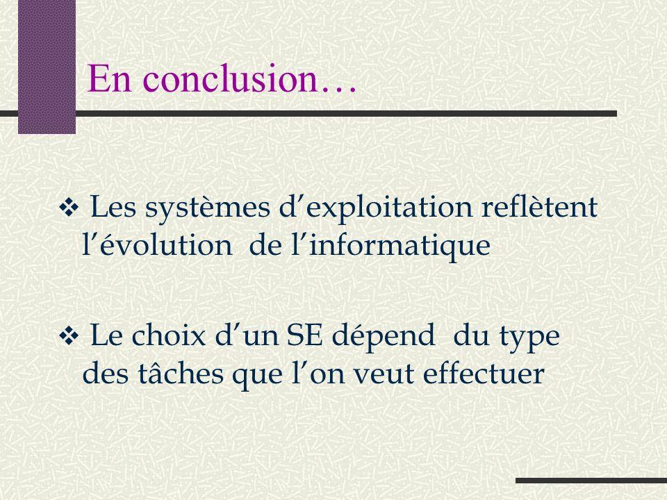 Chaque système a sa propre manière de dialoguer avec les logiciels… Exemple 1: Exemple 2: « Indique-moi la position de la souris » « Préviens-moi lors