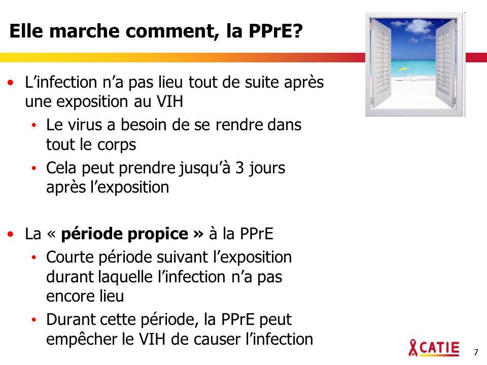 28 Quelle est la prochaine étape pour la PPrE orale et topique.