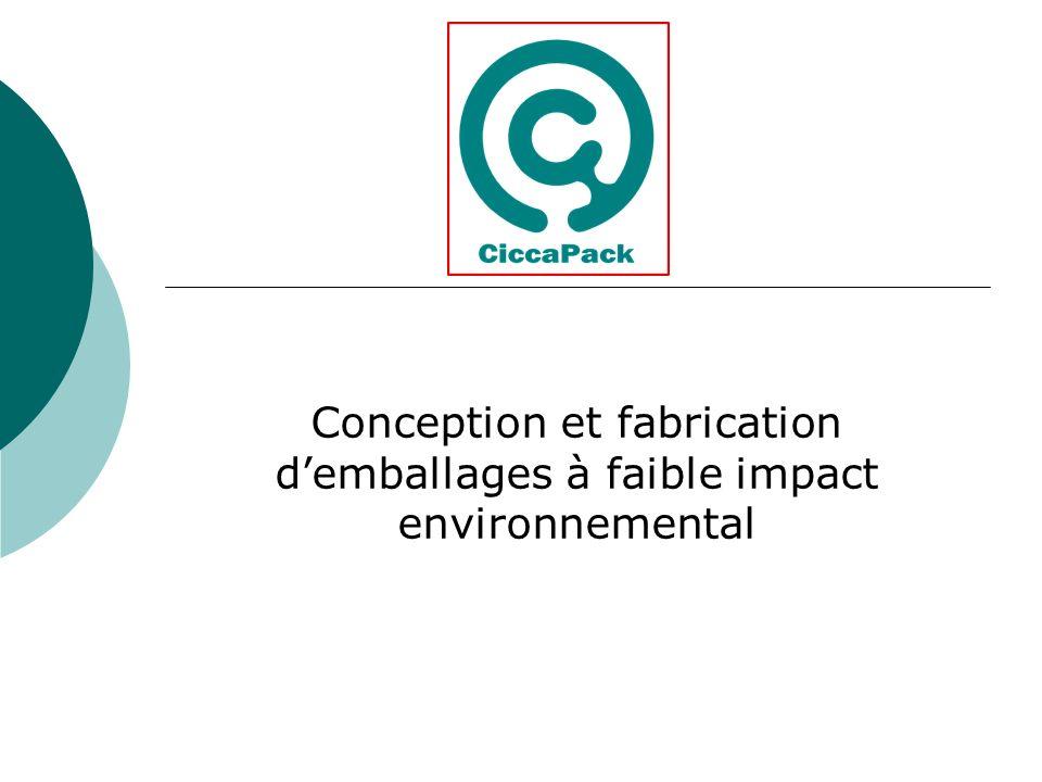 Conception et fabrication demballages à faible impact environnemental