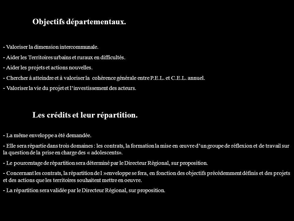 Objectifs départementaux. - Valoriser la dimension intercommunale.