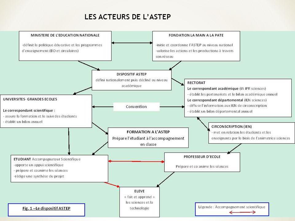 LES ACTEURS DE LASTEP
