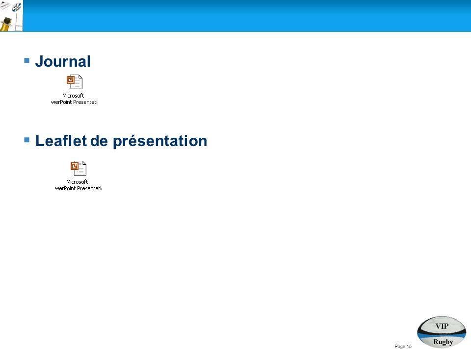 Journal Leaflet de présentation Page 15
