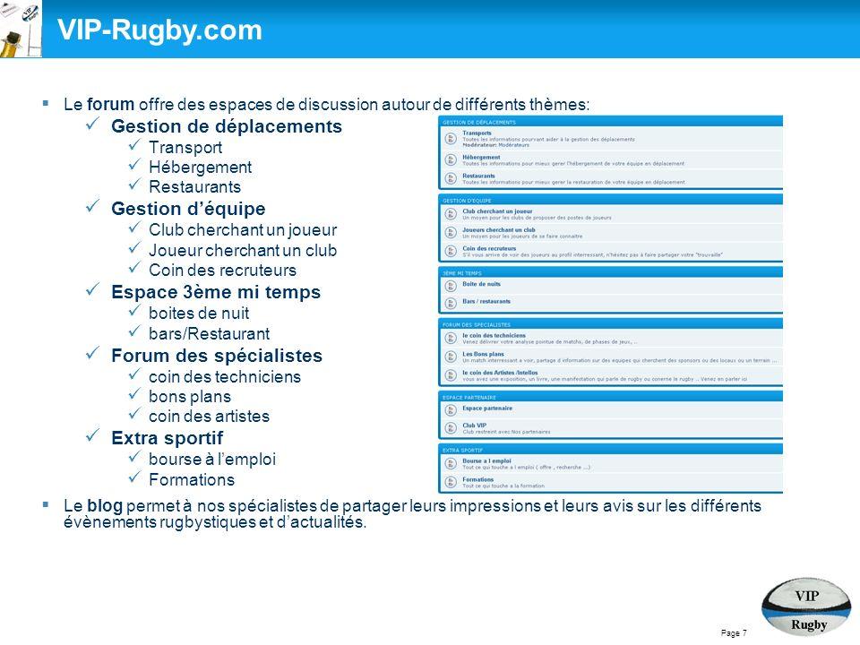 Présentation de VIP RUGBY VIP-Rugby.com VIP Rugby, lexpérience du terrain VIP-Rugby.com VIP Rugby, lexpérience du terrain Objectifs Services Manière de travailler VIP Rugby, composition déquipe Page 8