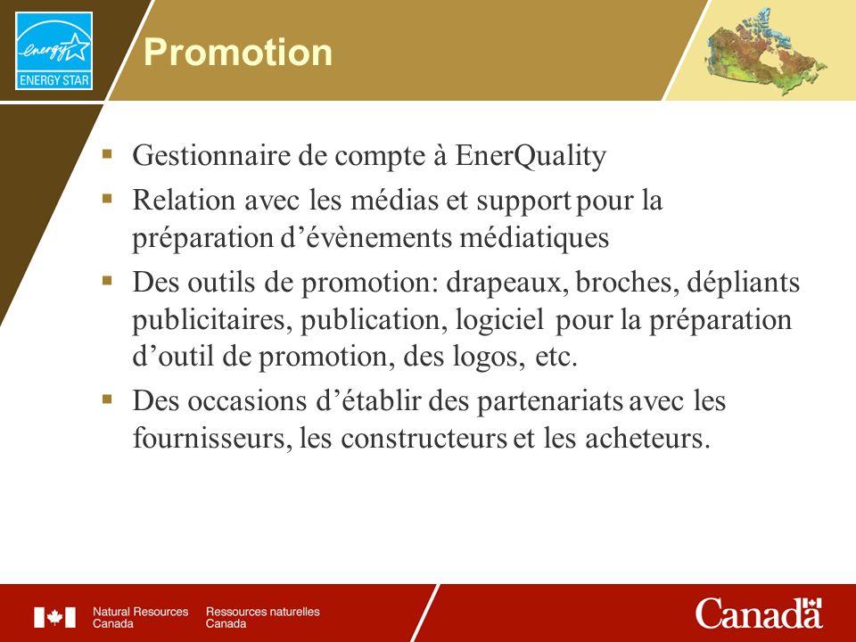 Promotion Gestionnaire de compte à EnerQuality Relation avec les médias et support pour la préparation dévènements médiatiques Des outils de promotion