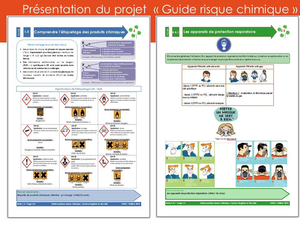 Présentation du projet « Guide risque chimique »