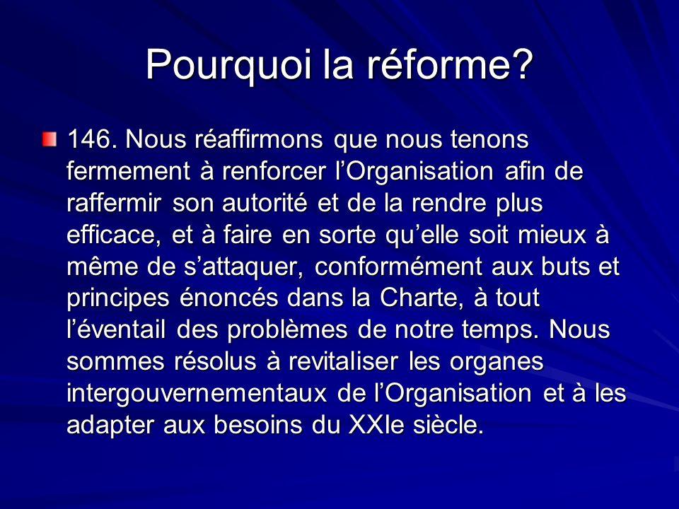 Pourquoi la réforme. 146.
