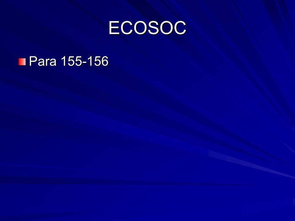 ECOSOC Para 155-156
