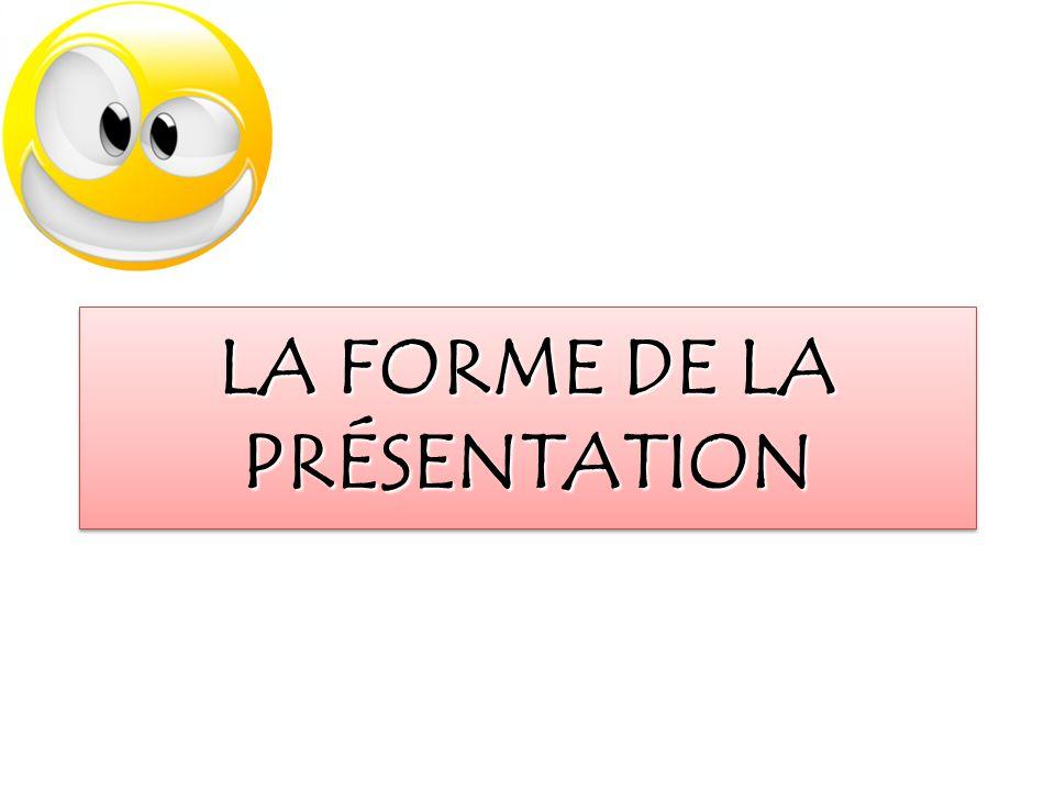5 Présentation orale projets expérimentaux faibleO.