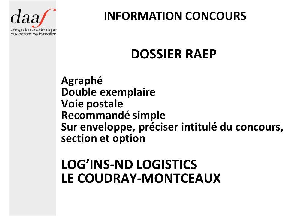 DOSSIER RAEP Annexes 10 pages MAXIMUM Sur support PAPIER 1 ou 2 ex.
