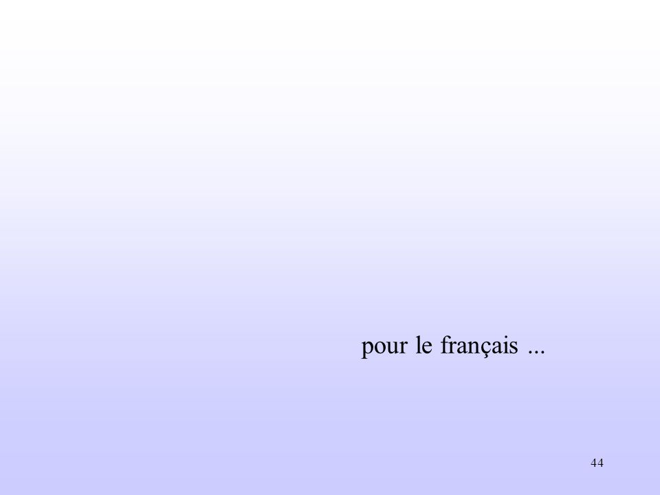 44 pour le français...