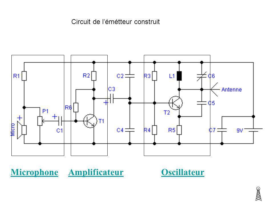 Circuit de lémétteur construit MicrophoneAmplificateurOscillateur