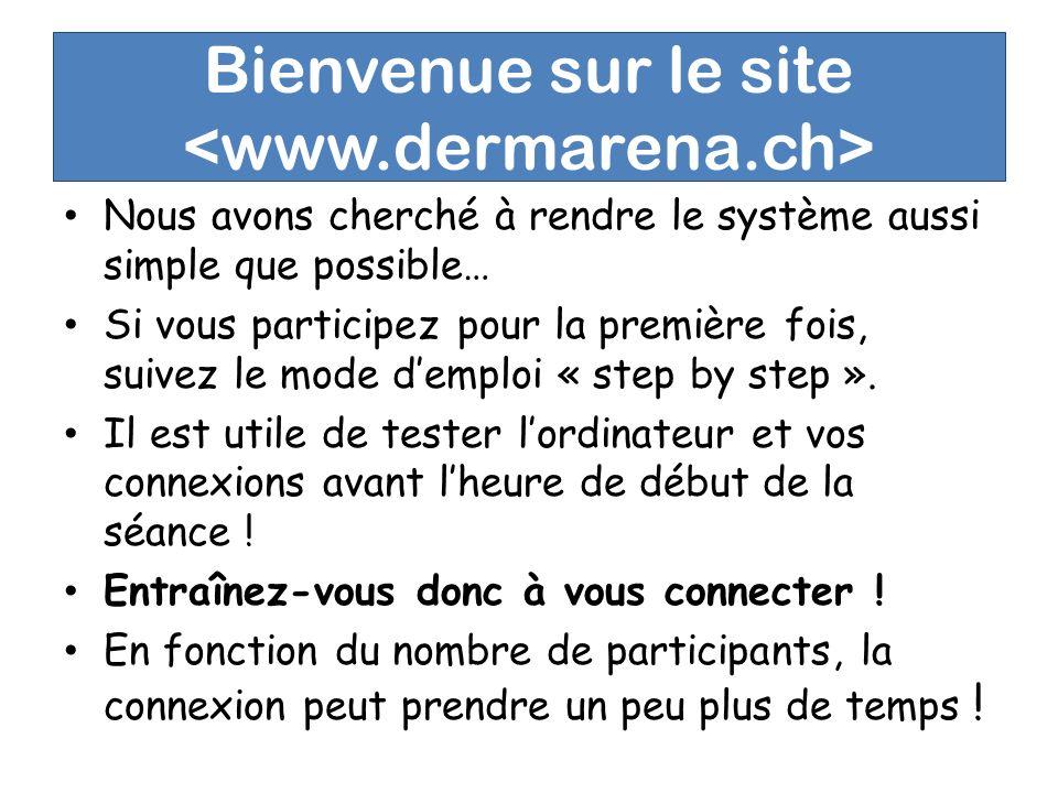 Bienvenue sur le site Nous avons cherché à rendre le système aussi simple que possible… Si vous participez pour la première fois, suivez le mode demploi « step by step ».