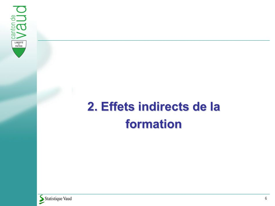 6 2. Effets indirects de la formation