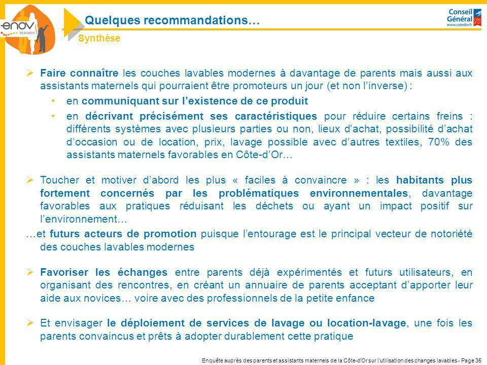 Enquête auprès des parents et assistants maternels de la Côte-dOr sur lutilisation des changes lavables - Page 35 Faire connaître les couches lavables