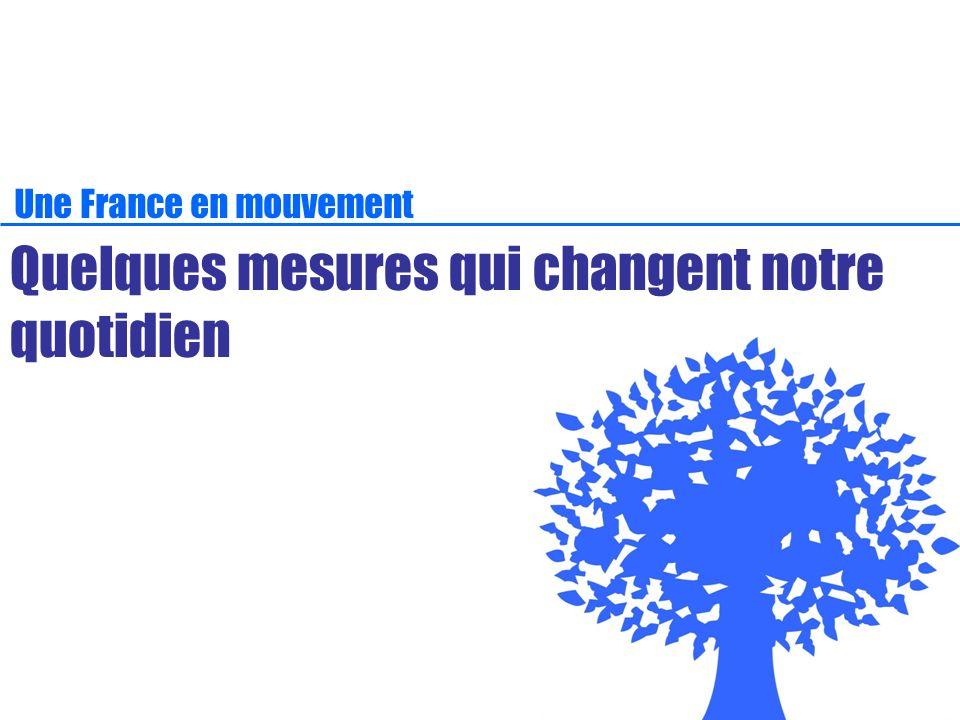 Une France en mouvement Quelques mesures qui changent notre quotidien