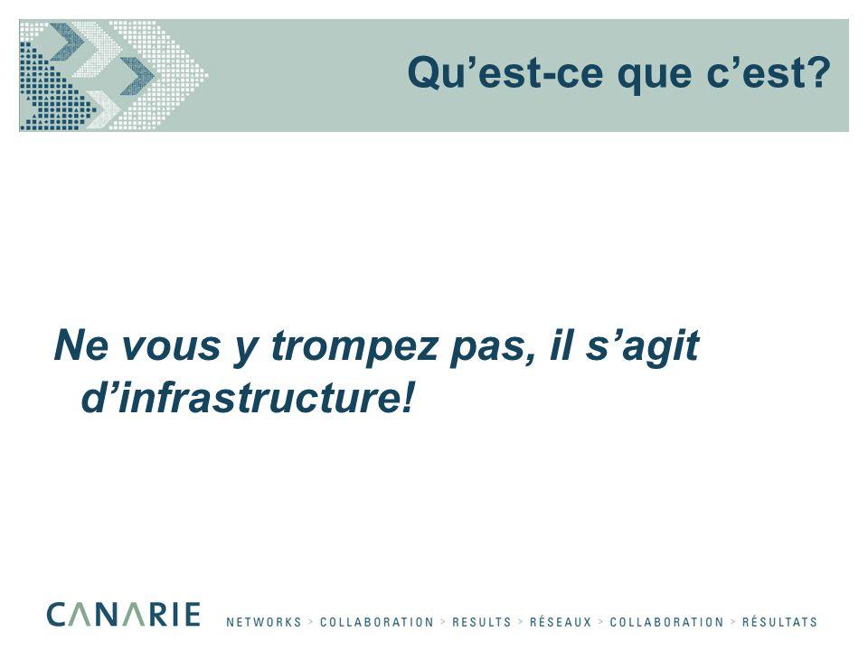 Ne vous y trompez pas, il sagit dinfrastructure! Quest-ce que cest