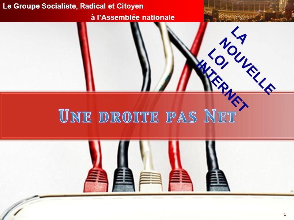 GROUPE SOCIALISTE, RADICAL ET CITOYEN À LASSEMBLÉE NATIONALE Le Groupe Socialiste, Radical et Citoyen à lAssemblée nationale 1 LA NOUVELLE LOI INTERNET