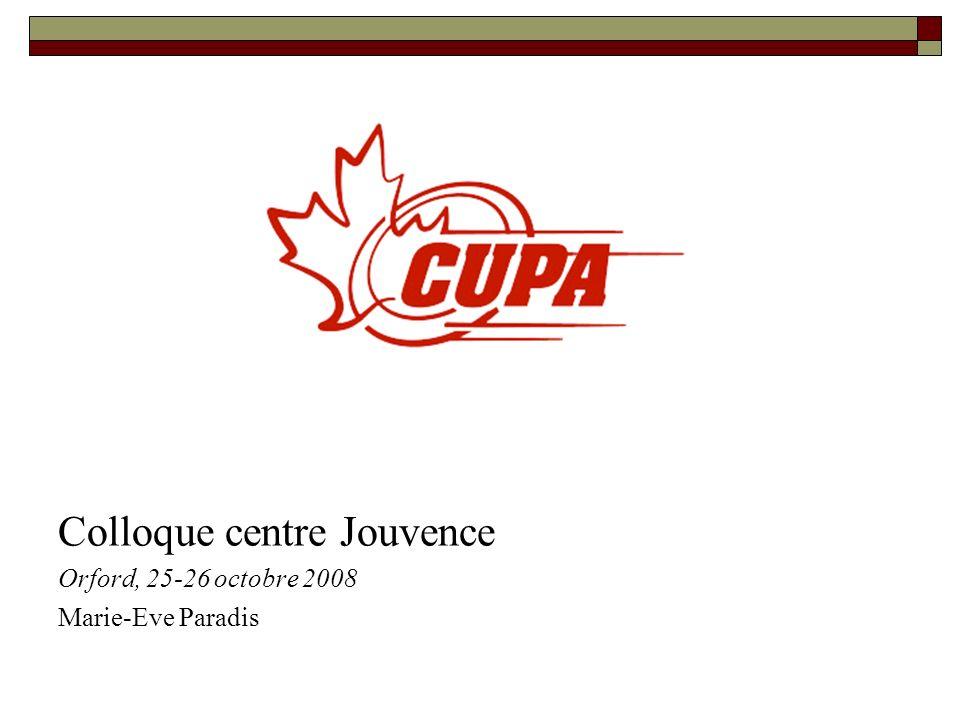 Projets en cours et à venir Restructurer les opérations de la CUPA Travailler avec les Provincial Sport Organisations (PSOs) et leurs membres Développer des programmes-clés nationaux